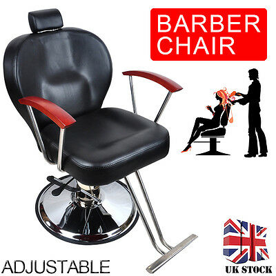 Pro Barber Hydraulic Reclining Chair Hairdressing Salon Beauty Furniture UK NEW