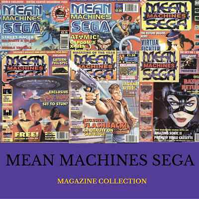 MEAN MACHINES SEGA MAGAZINE 53 ISSUES Collection|MEGADRIVE Retro Gaming!Data DVD