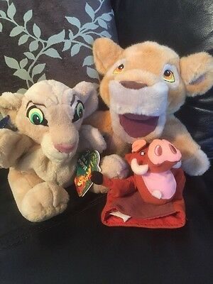 Lion King Hand Puppets Disney store And Applause