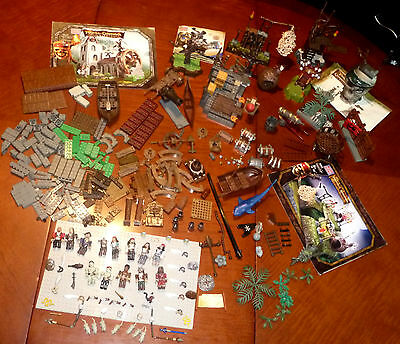 Huge Lot Mega Bloks Pirates Of The Caribbean Figures Sets Accessories Wapons +++