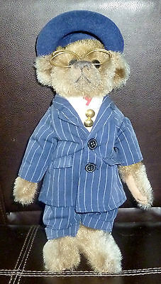 "Brass Button Collection Pikcford Plush Bear 13"" ""baxter"" 20Th Century Collection"
