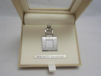 Mikimoto Pendant Watch / Necklace with Pearl created for JAL 100% Authentic!