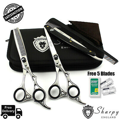 "Pro SHARPY 6.5"" Barber Hair Cutting Thinning Scissors Shears Hairdressing Kit"