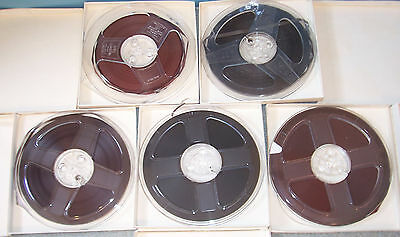 2 Generic & 3 Scotch 3M Reel to Reel 7 In  Audiophile Music Recording Tape
