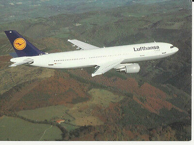 LUFTHANSA AIRBUS A 300-600 Airline ISSUED Aircraft Airplane Aviation POSTCARD