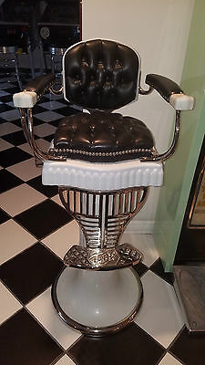 1920's Antique Child Koken Barbershop Chair Barber shop Kid Beauty