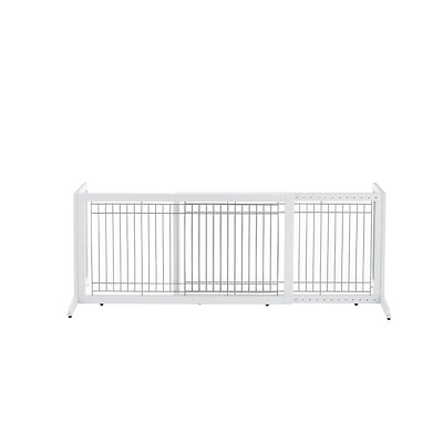 Richell 94157 Freestanding Pet Gate, Large, Origami White