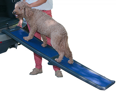Pet Gear Travel Lite Bi-Fold Full Ramp for Cats and Dogs up to 150 Pounds, 66-In
