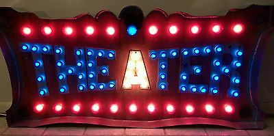 Custom Theater Sign - Light Up Vintage Marquee Art
