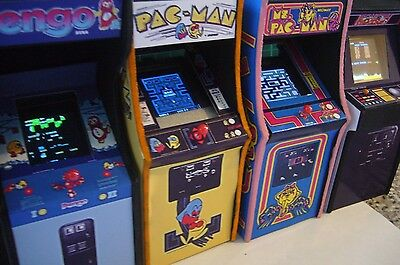 Ms Pac Man Real LED Screen Miniature Arcade Machine Model - 1/12th Scale