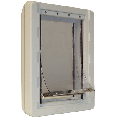 Ideal Pet Products 9.75-by-17-Inch Ruff-Weather Pet Door with Telescoping Frame,