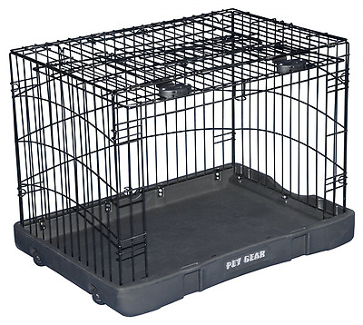Pet Gear Travel Lite Steel Crate for Cats and Dogs up to 30-Pounds, 27-Inch, Bla