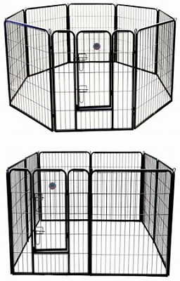 Go Pet Club 24-Inch Heavy Duty Pet Play and Exercise Pen with 8 Panels