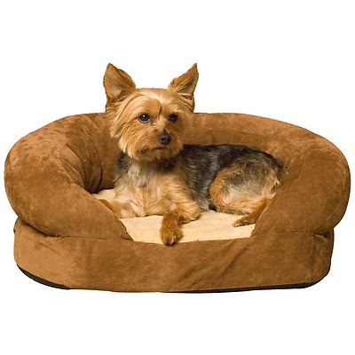 K&H Manufacturing Ortho Bolster Sleeper Pet Bed, Large 40-Inch Round, Brown Velv