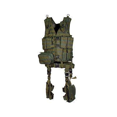 UTG Ultimate Tactical Gear Modular 10 Piece Complete Kit, OD Green