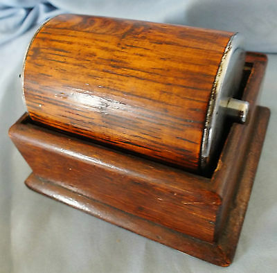Art Deco Oak Cigarette Dispenser/Holder