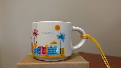 Florida 2015 Starbucks You Are Here YAH Collection Ornament 2 oz w/SKU