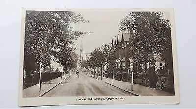 Early Real Photo Postcard Greenfield avenue Stourbridge street scene