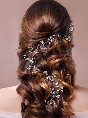 Bridal Wedding Headband Hair Vine and Headpiece special For Wedding - WHITE