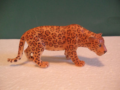 Schleich Spotted Tan and Black Leopard Figure USED