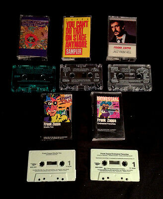Frank Zappa 5 Cassette Tapes Stage Sampler 2 Discreet Episodes Green Case J Hell