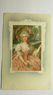 1909 Meissner Buch Postcard 18th Century Marquise Marie Antoinette Style Beauty