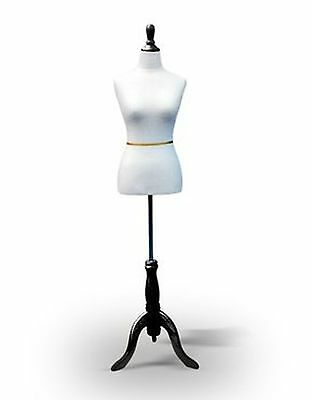 Adjustable Sewing Dress Form Female Mannequin Torso Stand Wooden Base Size 2-4