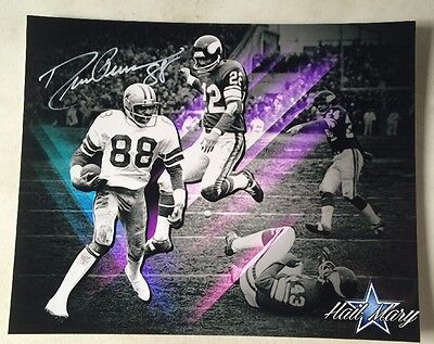 Drew Pearson DALLAS COWBOYS Signed AUTOGRAPHED 8x10 PIC PHOTO Picture