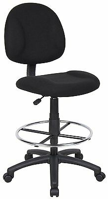 Adjustable Office Chair Ergonomic Works Drafting Chair Chrome Foot Ring Black