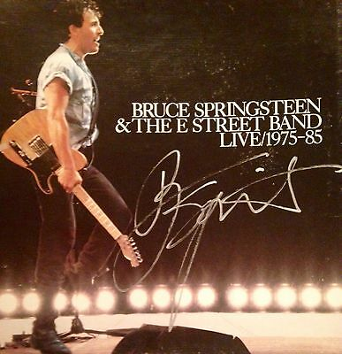 Bruce Springsteen and E Street Band Live 1975-85 Box Set Autographed By Bruce