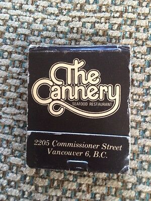 THE CANNERY Seafood Restaurant Vancouver BC Vintage Matchbox