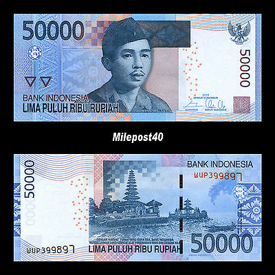 Indonesia Rupiah 500,000 (10 x 50,000) Circulated Banknotes (IDR) USA Seller