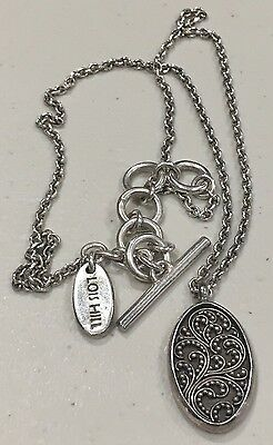 """Lois Hill Oval Pendant Necklace- 18"""" Chain"""