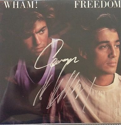 Wham Freedom 45 RPM Autographed By George Michael