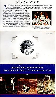 Republic of the Marshall Islands First Men on the Moon $5 Comm Coin
