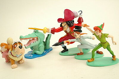 Lot of 5 Peter Pan Figurines Figurines Caketoppers Captain Hook Micheal