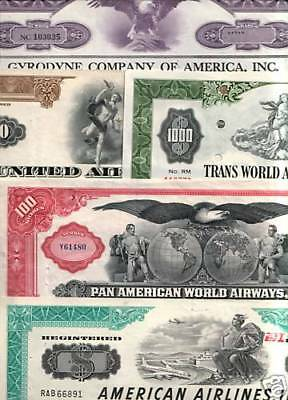 Lot Of 21 Diff Xx-Rare Historic Aviation Stocks @ $3.49! Cv $850! Absolute Steal