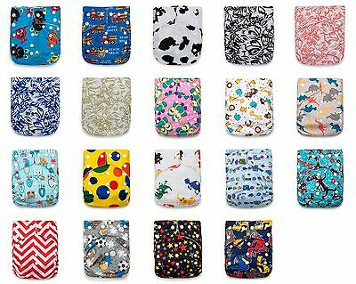 24 KaWaii Baby One Size Goodnight Heavy Wetter Cloth Diapers 48 Large Inserts