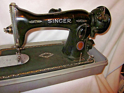 Vintage Singer Sewing Machine Centennial Edition 15-91 Clydebank, Scotland