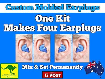 2 Pairs Kit DIY Custom Molded Moulded Earplugs Ear Plugs Mouldable Moldable. Aus
