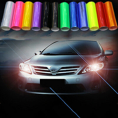 Auto Car Fog Light Headlight Taillight Tint Vinyl Film Sheet Sticker Decal Fancy