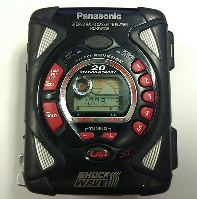 Panasonic Shockwave RQ-SW33V Cassette Player/Radio