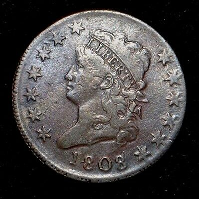 1808 Large Cent*** Very Fine **choice Brown
