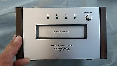 Vintage Centrex By Pioneer 8-Track Player For Parts Or Repair Only.