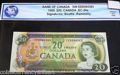 1969 $20 Bank Of Canada BANKNOTE