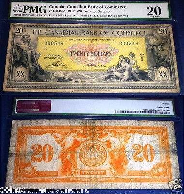 1917 Canadian Bank Of Commerce $20 . PMG20 VERY FINE