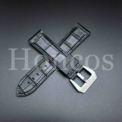 24mm Gray Rubber strap band Replacement fits for Panerai Submersible