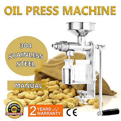 Manual Oil Press Machine Extractor Household Stainless Steel Nuts Seeds