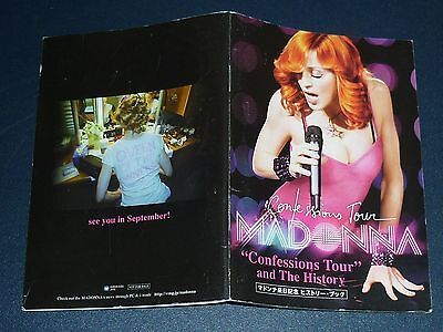 """MADONNA 2006 JPN Mini BOOKLET """"Confessions Tour"""" and The History"""