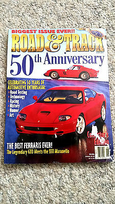 Vintage June 1997 Road and Track 50th Anniversary Collector's Edition Magazine